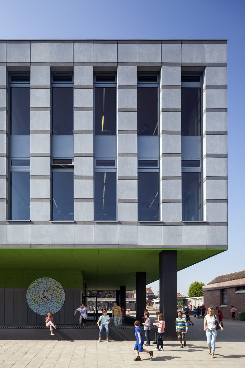 Marlies Rohmer, School st Truiden, Belgium, secondary education, monumental, sculpture, flexible building