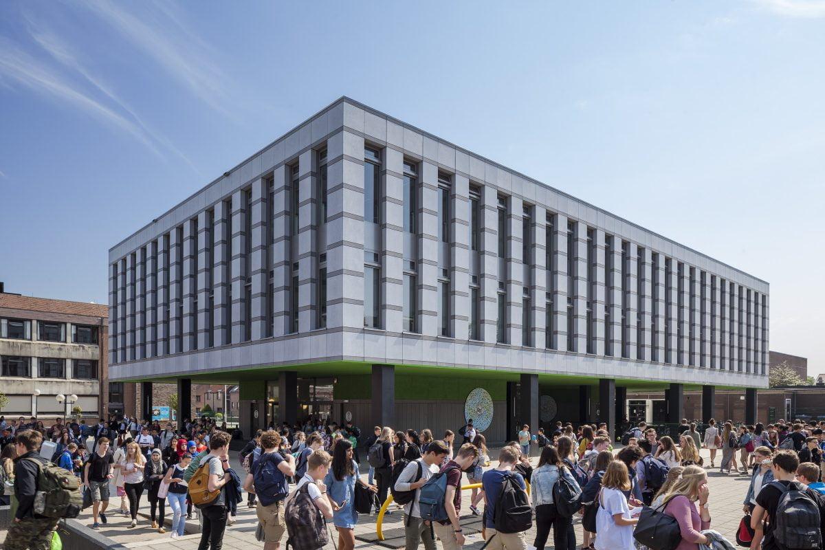 Marlies Rohmer, School, st Truiden, België, voortgezet onderwijs, monumentaal, sculptuur, flexibel gebouw