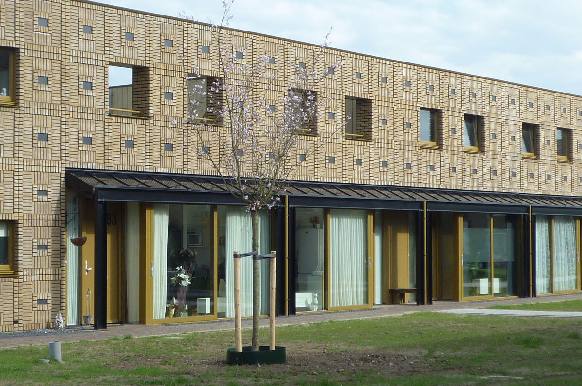 Marlies Rohmer, Berflo Es, Hengelo NL, housing, masonry patterns