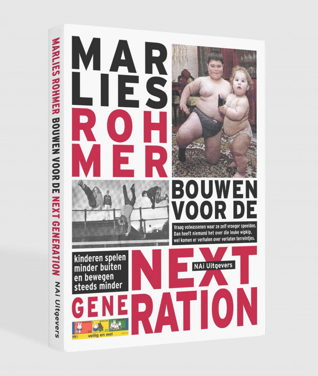 Marlies Rohmer, Building for the NEXT GENERATION, changing living conditions of younger people, families in the city, increasing childhood obesity, excercise, wide sidewalk, the street as a village, climable buildings, sports on the roof, research into contemporary youth culture.