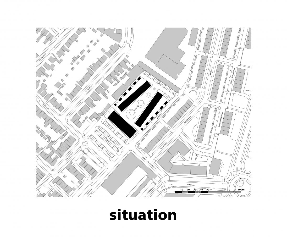 Marlies Rohmer, Zeist, geiserhof, stadsvernieuwing, stedelijke vernieuwing, woningbouw, hof, plein, pergola, monument de Naald